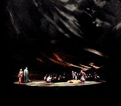 """"""" Das Rheingold """" 2.Bild 1961 Wolfgang Wagner Bühnenphoto"""