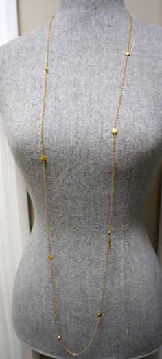 Extra Long 54 inch Gold Link Layering Necklace Cougar Town meets Parenthood by Links & Locks, $28.00