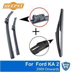 Qeepei Front And Rear Wiper Blade No Arm For Ford Ka   Onwards High Quality
