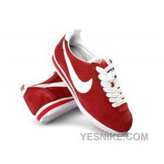 the latest 903bc bd64a Nike Classic Cortez Nylon Womens and Mens Shoes Suede Red and White