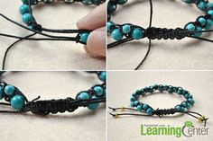 How to Make a Best Friend Bracelet Out of String and Turquoise Beads Summary: DIY best friend bracelets are perfect presents to show love to your close friends. In this tutorial, I will show you how to make a best friend bracelet out of string.If you can tie square knot and sting beads, there will be no problems to DIY this beast friend bracelet.