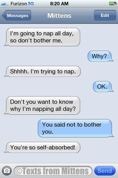 NEW Daily Texts from Mittens: The Napping Edition More Mittens: http://textsfrommittens.com/