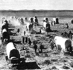 mormon pioneer trail | Mormon Pioneers crossing the plains