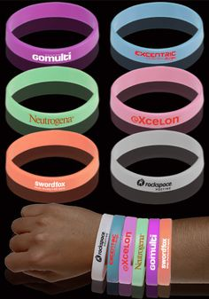 Great for parties and concerts, these Glow in the Dark Silicone Customized Wristbands will make any event a blast! #discountmugs