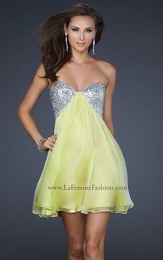 Lime short #prom dress by La Femme