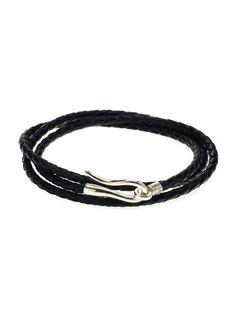 aksesuar - Hook  siyah Deri Bileklik