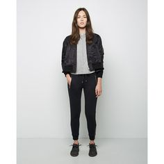 AR SRPLS Flared Bomber ($335) ❤ liked on Polyvore