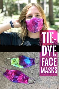 DIY Tie-Dye Face Masks - Clumsy Crafter Diy Tie Dye Projects, Tie Dye Crafts, Craft Projects, Craft Ideas, Dit Face Mask, Face Masks, Special Needs Art, Tie Dye Tutorial, How To Make Brown