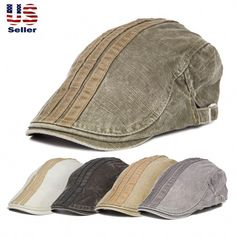 5a350f4bafa57 Classic Unisex 100% Cotton Gatsby Cap Newsboy Ivy Hat Summer Golf Hat  Cabbie  NewsboyCabbie