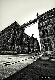 Pabst Factory Black & White Photograph  by VladislavBorimsky, $22.00