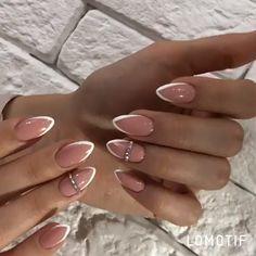 - nails - in 2019 Blush Pink Nails, Pink Nail Art, Yellow Nails, Purple Nails, Almond Acrylic Nails, Fall Acrylic Nails, Chic Nails, Classy Nails, Oval Nails