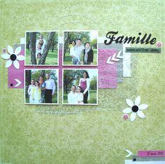 Page : FAMILLE bonheur d'être ensemble #scrapbooking