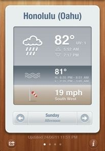 lovely ui (icons on BeachWeather))