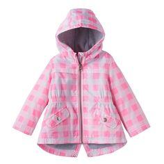Baby Girl Carter's Heavyweight Print Anorak Jacket, Size: 24 Months, Dark Pink