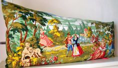 Huge Unique Vintage Silk Needlepoint Tapestry by Retrocollects,