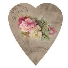 Vintage Roses and Postcard Heart