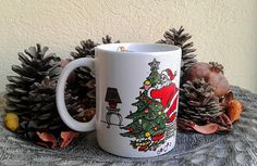 Your place to buy and sell all things handmade Tea Mugs, Coffee Mugs, Ceramic Coasters, Decoration Piece, Stoneware, Gift Tree, Santa, Pottery, Ceramics
