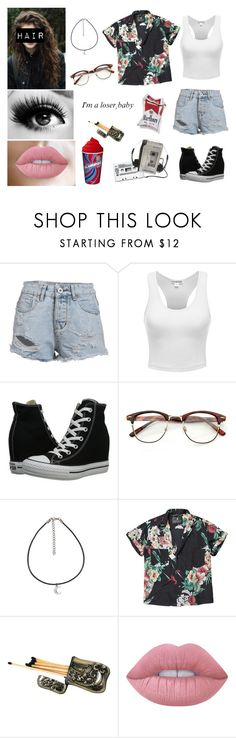 """Female Richie Tozier / IT (2017)"" by heavymetalvampirequeen ❤ liked on Polyvore featuring Converse, Scotch & Soda, Giuseppe Zanotti and Lime Crime"