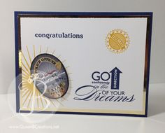 handmade card using multiple Stampin' Up! stamp sets to make a card for a police academy graduate.