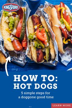 Grill up the all-American hot dog perfectly every time. Hot Dog Recipes, Meat Recipes, Cooking Recipes, Hamburgers, Hot Dogs, Do It Yourself Videos, Ginger Ale, Grilling Recipes, Food To Make