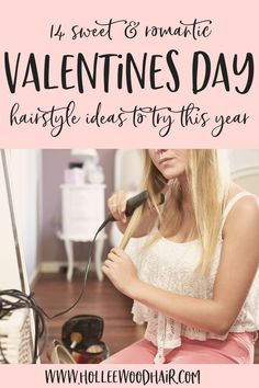 Are you looking some sweet Valentines Day hair ideas?  These super easy hairstyles are cute, trendy and super romantic!  So what are you waiting for? These super fun Valentines Day hairstyles are the perfect hair inspo for you to look your best this year! (tutorials included) #ValentinesDay #Hair #Hairstyles #HairInspo