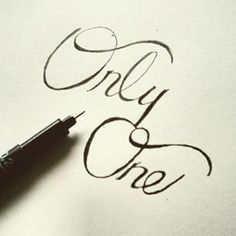 Only One #lefthanded #handlettering