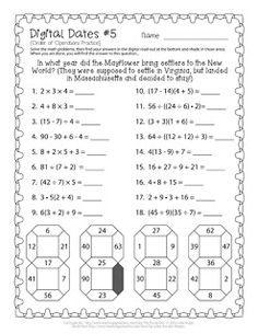 Digital Dates 5 - Free puzzle melding math and history!