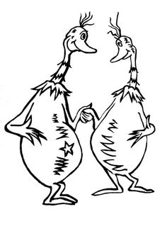 sneetches coloring page 1 sneetches pinterest