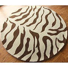 Safavieh Martha Kalahari Brown Rug Animal Prints Decor Winning Round Zebra