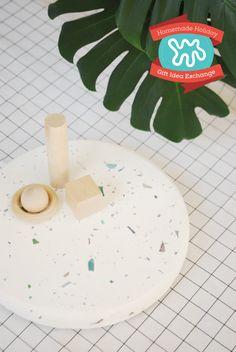 Homemade Holiday Gift Idea: Make A Terrazzo Lazy Susan — 2015 HOMEMADE HOLIDAY GIFT IDEA EXCHANGE: PROJECT #9