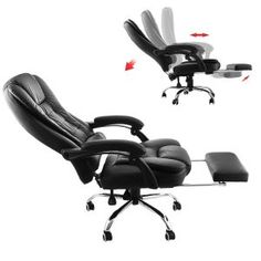 Superland Executive Reclining Office Chair 360 Degree Swivel Ergonomic High Back Executive Chair with Foot Stool Black Leather Footrest Armchair) Blue Dining Room Chairs, Shabby Chic Table And Chairs, Old Chairs, Desk Chairs, Study Chairs, Wooden Chairs, Reclining Office Chair, Swivel Rocker Recliner Chair, Kids Folding Chair