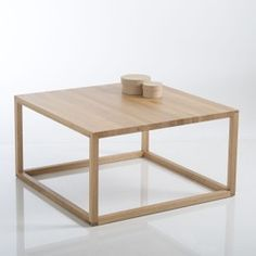 Crueso Scandi-Style Cube Coffee Table in Solid Oak LA REDOUTE INTERIEURS Crueso cube coffee table. The perfect size and height, this Scandi-inspired coffee table is smart and practical for everyday use.