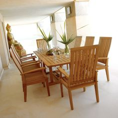 Home - Teak Patio Furniture, Outdoor Furniture, Asian Furniture for Washington DC - Abaca Imports Teak Outdoor Furniture, Asian Furniture, Dining Arm Chair, Patio Dining, Dining Table, Contemporary Dining Sets, Outdoor Living, Outdoor Decor, Side Chairs