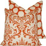 "Orange Creamsicle Collection  20"" Throw Pillows"