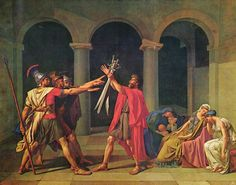Le serment des Horaces - The Oath of the Horatii - Il Giuramento degli Orazi (Musee du Louvre, Paris) by David, Jacque Louis (1748-1825) - 1784