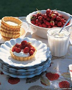 Strawberry Tartlets Recipe #Storets #Inspiration #Food