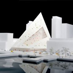 architecture firm bjarke ingels group has revealed the design of 'west a residential building in new york city overlooking the hudson river. New York Architecture, Sustainable Architecture, Big Architects, Mix Use Building, Arch Model, Concept Diagram, Zaha Hadid, Modern Buildings, Design Model