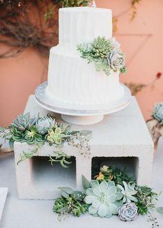Succulent wedding ca