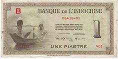 French Indochina #76b 1 piastre 1945