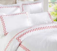 Liza Embroidered 280-Thread-Count Duvet Cover & Shams | Pottery Barn