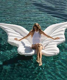 Fab Findz Oversize Angel Wings Pool Float | zulily