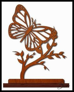 Scrollsaw Workshop: Monarch Butterfly Sculpture Scroll Saw Pattern.