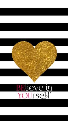Stripes gold heart phone iphone wallpaper background lock screen