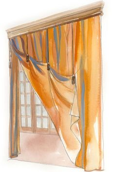 A window-fashion professional shares her design strategies for creating effective window treatments for any room.  http://www.threadsmagazine.com/item/3727/window-treatments-101 Window Drapes, Curtains With Blinds, Window Coverings, Diy Curtains, Custom Drapes, Custom Window Treatments, Design Strategy, Window Styles, Window Dressings