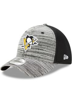 New Era Pittsburgh Penguins Mens Black Tonal Tint 39THIRTY Flex Hat  Pittsburgh Penguins Gear c7010c571c4c