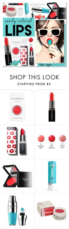 """""""So Sweet: Candy-Colored Lips"""" by mada-malureanu ❤ liked on Polyvore featuring beauty, Smashbox, Morgan Lane, Butter London, COOLA Suncare, Lancôme, Korres, L'Oréal Paris and candylips"""
