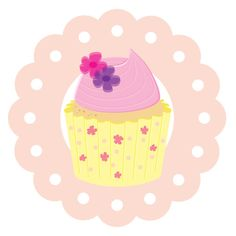 Another one of Sophie's illustrations - Pink Cupcake