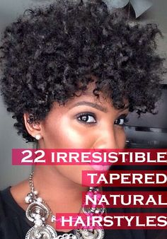 """22 Irresistible Tapered Afro Hairstyles That Make You Say """"Wow!"""""""