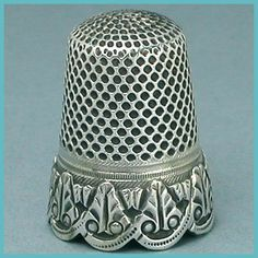 Antique Scalloped Band French Silver Thimble * Hallmarked * Circa 1890s
