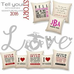 Tell you story with a personalized Canvas Pillow by Thirty-One. Browse the catalog, shop online and contact me at www.mythirtyone.com/LisaGoadSells